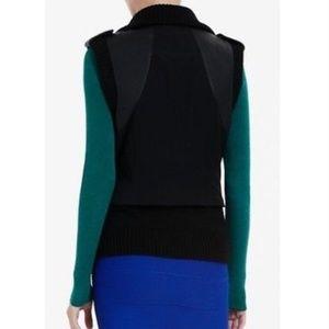 BCBGMaxAzria Jackets & Coats - BCBGMaxazria Black Viggo Leather Vest